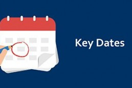 Key Dates for tax
